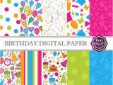 How to Make A Digital Birthday Card Birthday Digital Paper Pack W Birthday Patterns to Use