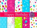 How to Make A Digital Birthday Card Happy Birthday Digital Paper Pack with Birthday Patterns