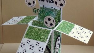 How to Make A Football Birthday Card Football Pop Up Box Card Craft Inspiration