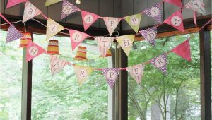 How to Make A Happy Birthday Banner Of Paper Woven Home Happy Birthday Pennant Banner Tutorial