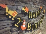 How to Make A Happy Birthday Banner Out Of Construction Paper Construction Birthday Banner Dump Truck Birthday Banner