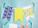 How to Make A Happy Birthday Banner Out Of Construction Paper Free Printable Happy Birthday Banner Pizzazzerie