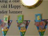 How to Make A Homemade Happy Birthday Banner Making A One Year Old Happy Birthday Banner Gigglebox