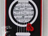How to Make A Musical Birthday Card Ic451 Guitar Birthday by Wannabcre8tive at