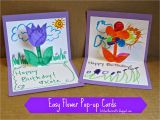 How to Make A Pop Up Birthday Card Easy Kitchen Floor Crafts Easy Flower Pop Up Cards