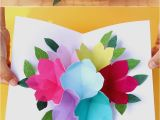 How to Make A Simple Birthday Card Out Of Paper Pop Up Flowers Diy Printable Mother 39 S Day Card A Piece