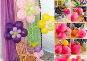 How to Make Balloon Decoration for Birthday Party Lovely Balloon Decorations Home Design Garden