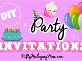How to Make Birthday Invites Make Your Own Party Invitations Youtube