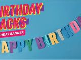 How to Make Happy Birthday Banner How to Make A Quot Happy Birthday Quot Banner Using Washi Tape