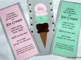 How to Make Homemade Birthday Invitations Homemade Ice Cream Birthday Invitations