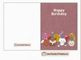 How to Print Birthday Cards Free Printable Woodland Birthday Cards