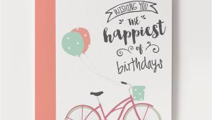 How to Print Birthday Cards Printable Birthday Card Bicycle with Balloons
