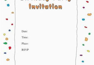 How To Print Birthday Invitations At Home 40 Free Party Invitation Templates Template Lab