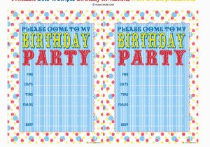 How to Print Birthday Invitations at Home Bnute Productions Free Printable Dots 39 N Stripes Birthday