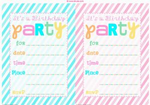 How to Print Birthday Invitations at Home Bnute Productions June 2013