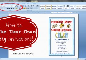 How to Print Birthday Invitations at Home How to Make Your Own Party Invitations Just A Girl and
