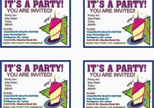 How to Print Birthday Invitations at Home Print Birthday Invitations Print Birthday Invitations