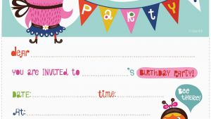 How to Print Birthday Invitations at Home Printable Birthday Invitations Template Best Template