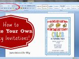 How to Print Birthday Invitations for Free How to Make Your Own Party Invitations Just A Girl and