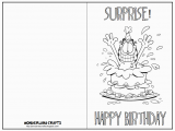 How to Print Out A Birthday Card Wonderland Crafts Birthday Cards