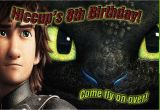 How to Train Your Dragon Birthday Invitations How to Train Your Dragon 2 Birthday Invitation Kustom