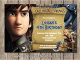 How to Train Your Dragon Birthday Invitations Personalised How to Train Your Dragon Birthday Invitations