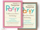 How to Word A Birthday Invitation Surprise Birthday Invitation Printable Surprise Birthday