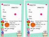 How to Write A Birthday Invitation Card Writing A Birthday Invitation Best Party Ideas