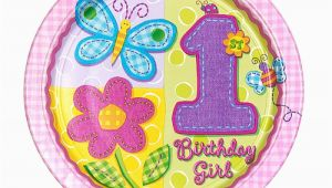 Hugs and Stitches 1st Birthday Girl Hugs and Stitches 1st Birthday Girl theme Paper Plates