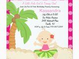 Hula Birthday Party Invitations Baby Hula Girl First Birthday Invitation Zazzle