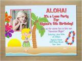Hula Birthday Party Invitations Hula Girl Luau Birthday Invitation Digital by Squigglesdesigns