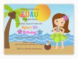 Hula Birthday Party Invitations Hula Girl or Boy Birthday Party Invitation You Print
