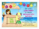 Hula Birthday Party Invitations Hula Girls Beach Tiki Birthday Party Invitation Zazzle