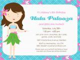 Hula Birthday Party Invitations Hula Palooza Birthday Invitation