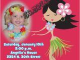 Hula Birthday Party Invitations Luau Hula Girl Birthday Invitations