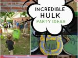 Hulk Birthday Decorations Incredible Hulk themed Superhero Birthday Party