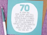 Humorous 70th Birthday Cards by Your Age Funny 70th Birthday Card by Paper Plane