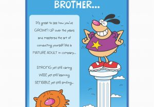 Humorous Birthday Cards for Brother Funny Birthday Quotes for Little Brother Quotesgram