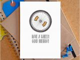 Humorous Cycling Birthday Cards Bicycle Birthday Card Funny Bicycle Card Funny Bike Card