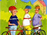 Humorous Cycling Birthday Cards Funny Greeting Card Trouble Pedalling Wrinklies