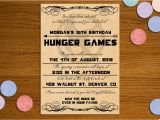 Hunger Games Birthday Invitations 6 Best Images Of Hunger Games Birthday Invitations