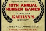 Hunger Games Birthday Invitations Hunger Games Inspired Birthday Invitation Invite Notice
