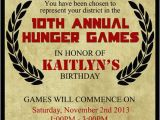 Hunger Games Birthday Invitations Hunger Games Inspired Birthday Invitation Invite Notice