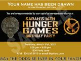 Hunger Games Birthday Invitations Hunger Games Party Ideas and Games