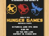 Hunger Games Birthday Invitations Hunger Games Printable Birthday Party Invitation