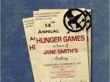 Hunger Games Birthday Invitations Items Similar to Hunger Games Inspired Diy Printable