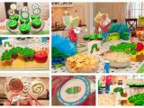 Hungry Caterpillar Birthday Decorations the Very Hungry Caterpillar First Birthday Party the