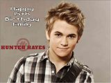 Hunter Hayes Birthday Card A4 Hunter Hayes Personalised Edible Icing or Wafer Paper