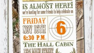 Hunting themed Birthday Invitations Hunting theme Birthday Invitation