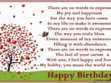 Husband Birthday Cards Sayings Birthday Poems for Husband Wishesmessages Com